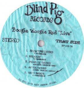 Cover - Boogie Woogie Red: Live At The Blind Pig