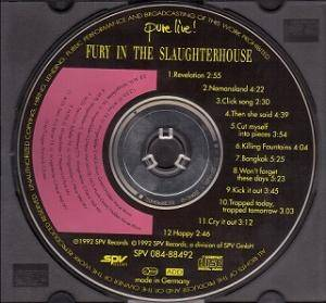 Fury In The Slaughterhouse: Pure Live! (CD) - Bild 4