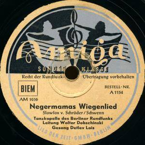 Cover - Detlev Lais: Negermamas Wiegenlied / Keep Smiling