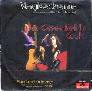 Cover - Greenfield And Cook: Vergiss Das Nie