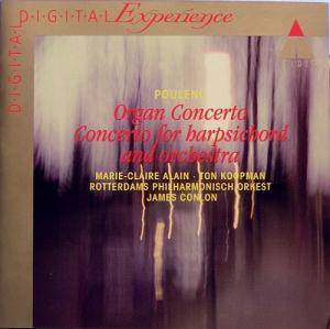 Cover - Francis Poulenc: Organ Concerto / Concerto for Harpsichord and Orchestra