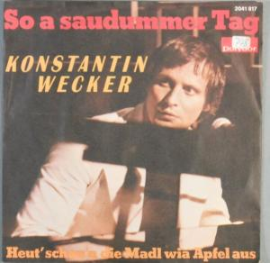 Cover - Konstantin Wecker: So A Saudummer Tag