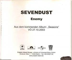 Sevendust: Enemy - Cover