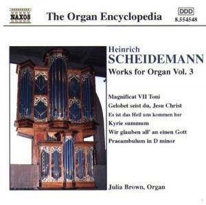 Cover - Heinrich Scheidemann: Organ Works Vol. 3