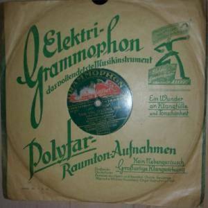 grammophon orchester wir seh 39 n alles doppelt schellack platte 10. Black Bedroom Furniture Sets. Home Design Ideas