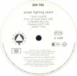 Simple Minds: Street Fighting Years (LP) - Bild 4