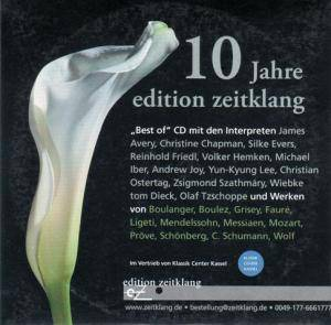 10 Jahre Edition Zeitklang - Cover