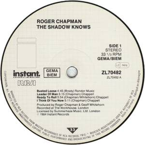 Roger Chapman: The Shadow Knows (LP) - Bild 3