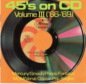 Cover - Friend & Lover: 45's On CD, Volume 3 ('66-'69) - Mercury/Smash/Philips/Fontana/MGM/Verve Classics Pop Singles