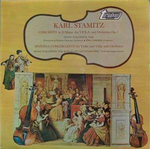 Cover - Carl Stamitz: Concerto In D Major For Viola And Orchestra, Op.1 / Sinfonia Concertante For Violin And Viola With Orchestra