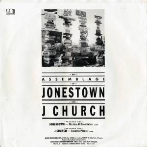 "J Church / Jonestown: J Town Revisited (Split-7"") - Bild 2"