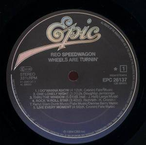 REO Speedwagon: Wheels Are Turnin' (LP) - Bild 2