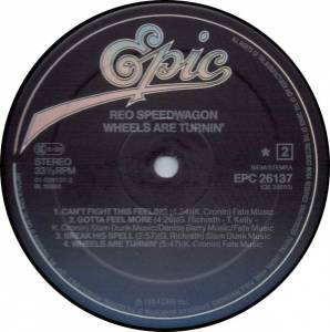 REO Speedwagon: Wheels Are Turnin' (LP) - Bild 4
