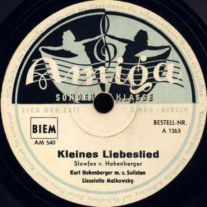 Cover - Liselotte Malkowsky: Kleines Liebeslied