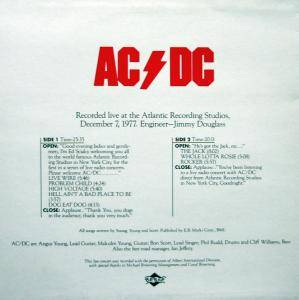 AC/DC: Live From The Atlantic Studios (LP) - Bild 2