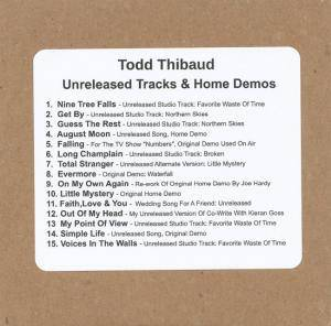 Cover - Todd Thibaud: Unreleased Tracks & Home Demos