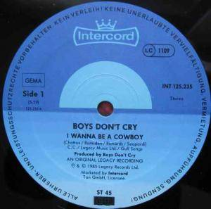 "Boys Don't Cry: I Wanna Be A Cowboy (12"") - Bild 3"