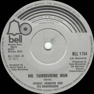 Cover - Johnny Johnson And The Bandwagon: Mr. Tambourine Man