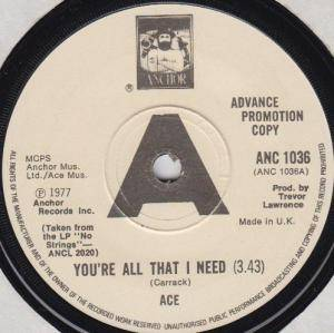 Cover - Ace: You're All That I Need