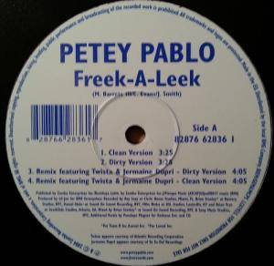 Cover - Petey Pablo: Freek-A-Leek / Vibrate
