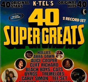 K-Tel's 40 Super Greats - Cover