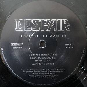 Despair: Decay Of Humanity (LP) - Bild 4