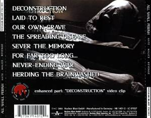All Shall Perish: Hate.Malice.Revenge (CD) - Bild 2