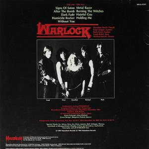 Warlock: Burning The Witches (LP) - Bild 2