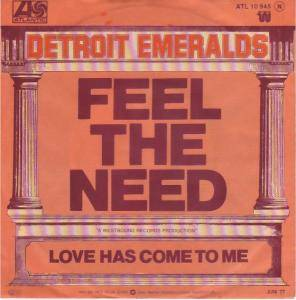 Cover - Detroit Emeralds: Feel The Need