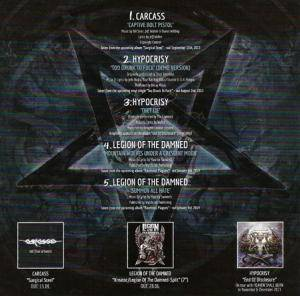 Carcass / Hypocrisy / Legion Of The Damned: Party.San • Hell Is Here-Sampler (Split-Mini-CD / EP) - Bild 2
