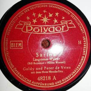 Cover - Goldy & Peter de Vries: Sarina