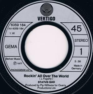 "Status Quo: Rockin' All Over The World (7"") - Bild 3"