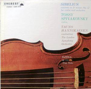 Cover - Jean Sibelius: Concerto For Violin And Orchestra In D Minor, Op.47 / Tapiola-Tone Poem, Op.112