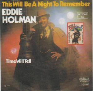 Cover - Eddie Holman: This Will Be A Night To Remember
