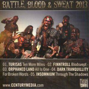 Battle, Blood & Sweat 2013 - Cover
