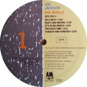 Joe Jackson: Big World (2-LP) - Bild 3