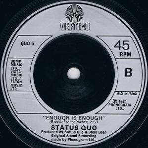 "Status Quo: Something 'bout You Baby I Like (7"") - Bild 4"