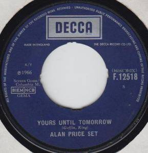 Cover - Alan Price Set, The: Yours Until Tomorrow