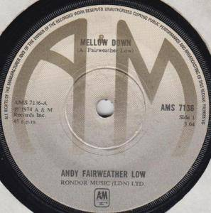Cover - Andy Fairweather Low: Mellow Down