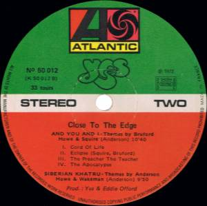 Yes: Close To The Edge (LP) - Bild 5