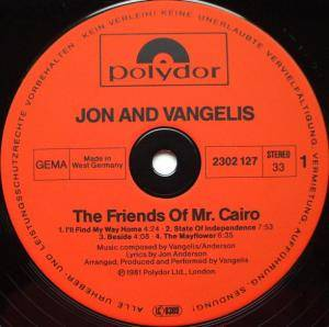 Jon & Vangelis: The Friends Of Mr Cairo (LP) - Bild 3