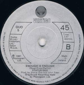 "Status Quo: Something 'bout You Baby I Like (7"") - Bild 3"
