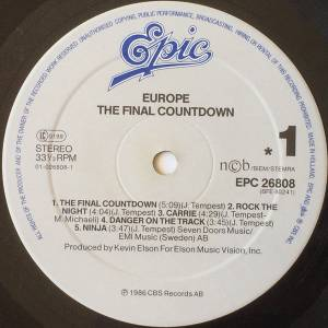 Europe: The Final Countdown (LP) - Bild 2