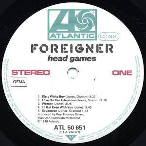 Foreigner: Head Games (LP) - Bild 4