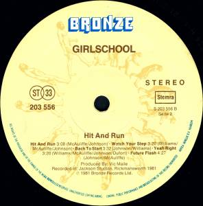 Girlschool: Hit And Run (LP) - Bild 4