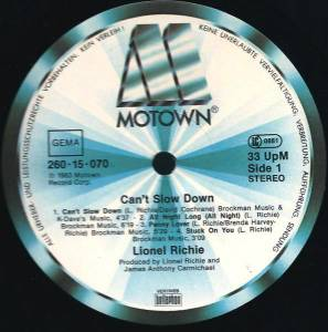 Lionel Richie: Can't Slow Down (LP) - Bild 2