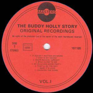 Buddy Holly / Buddy Holly & Bob Montgomery: The Buddy Holly Story Vol.1 (Split-LP) - Bild 2
