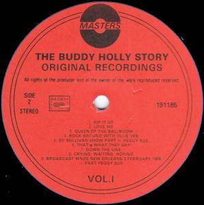 Buddy Holly / Buddy Holly & Bob Montgomery: The Buddy Holly Story Vol.1 (Split-LP) - Bild 3