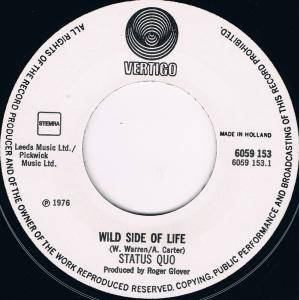 "Status Quo: Wild Side Of Life (7"") - Bild 3"