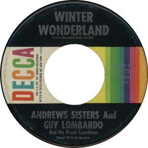 Cover - Andrews Sisters & Guy Lombardo And His Royal Canadians: Winter Wonderland